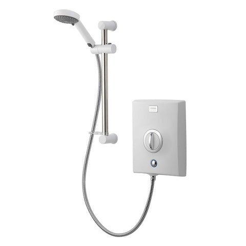 Aqualisa Quartz Electric Shower 8.5kw White & Chrome 3 Spray Handset QZE8521