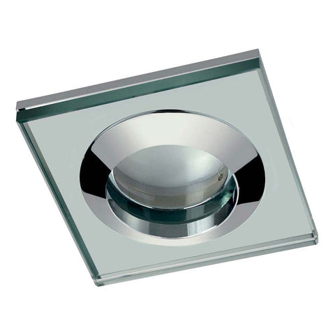 Hudson Reed Chrome Square Glass Shower Light Fitting - SE381010