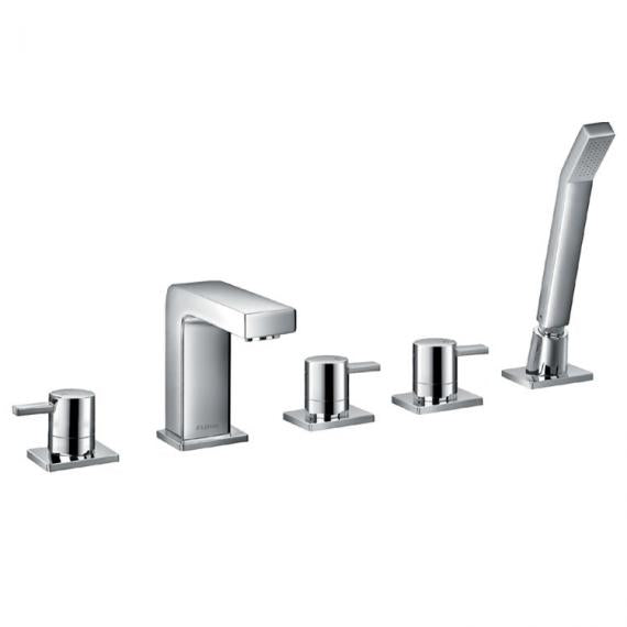 Flova STR8 5 Tap Hole Bath Shower Mixer & Handset