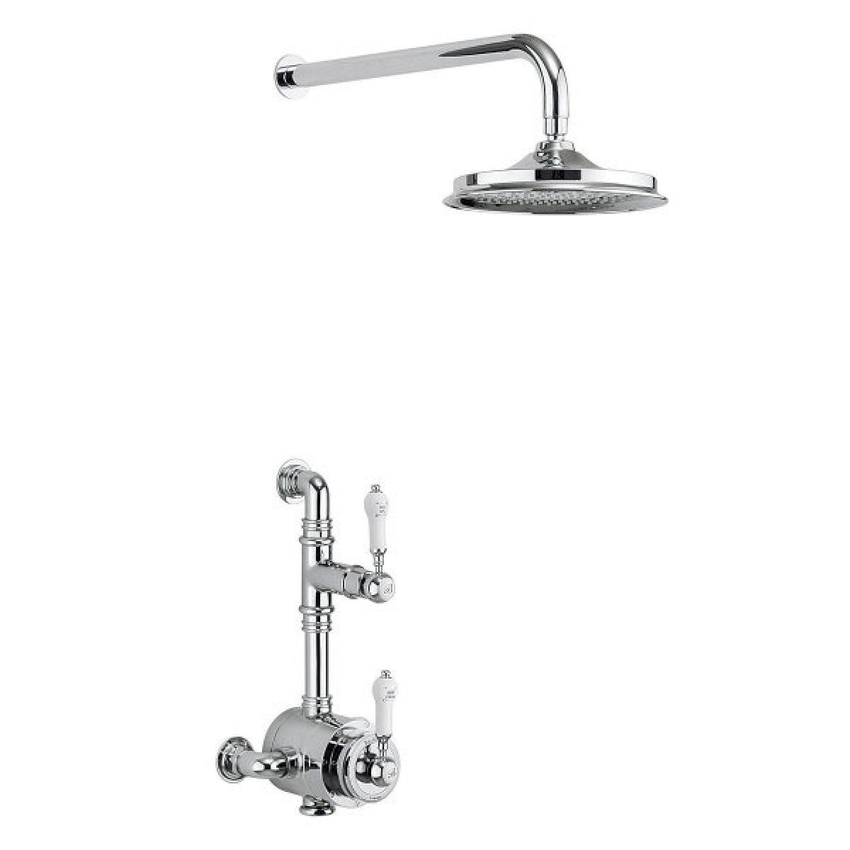 BURLINGTON STOUR EXPOSED THERMOSTATIC SHOWER KIT WITH AIRBURST SHOWER HEAD
