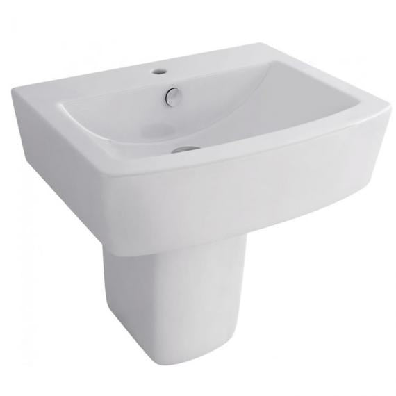 Pura Bloque 550mm Basin & Semi Pedestal