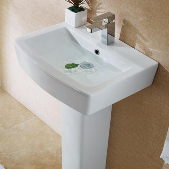 Pura Bloque 550mm Basin & Full Pedestal