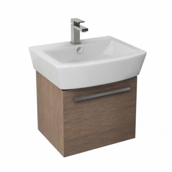Pura Bloque 55cm Wall Mounted Unit & Basin - Soft Oak