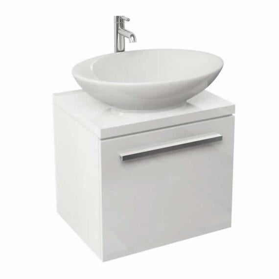 Pura Bloque Wall Mounted Vanity Unit & Basin - White Gloss