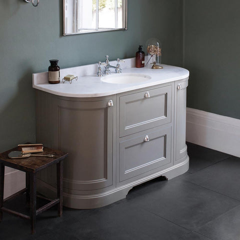 BURLINGTON 134 VANITY UNIT WITH DRAWERS, MINERVA WORKTOP & BASIN - 1336MM