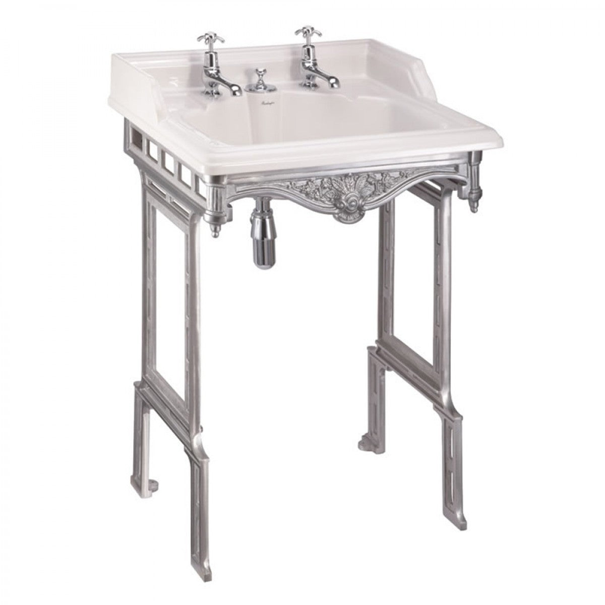 BURLINGTON CLASSIC BASIN WITH ALUMINIUM WASH STAND & INVISIBLE OVERFLOW
