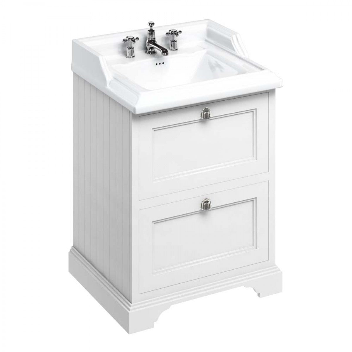 BURLINGTON FREESTANDING 65 VANITY UNIT WITH DRAWERS WITH CLASSIC BASIN - 654MM