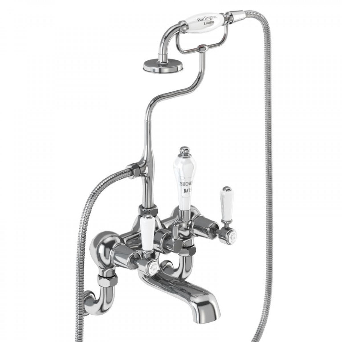 BURLINGTON KENSINGTON WALL MOUNTED BATH SHOWER MIXER WITH S ADJUSTER