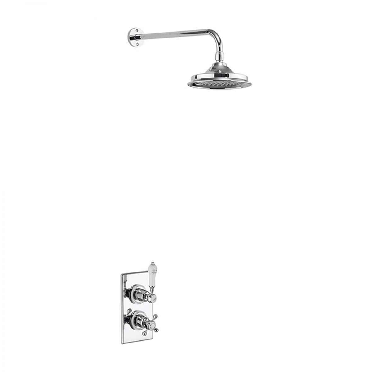 BURLINGTON TRENT CONCEALED THERMOSTATIC SHOWER KIT WITH FIXED AIRBURST SHOWER HEAD