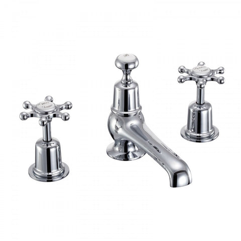 BURLINGTON BIRKENHEAD 3 TAP HOLE THERMOSTATIC BASIN MIXER WITH POP UP WASTE