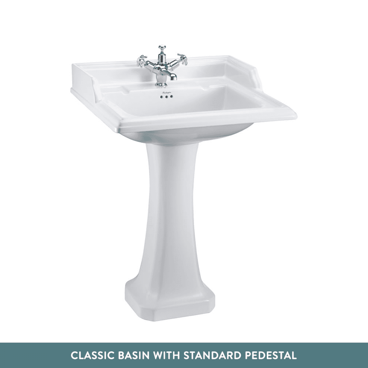 BURLINGTON CLASSIC RECTANGULAR BASIN WITH PEDESTAL
