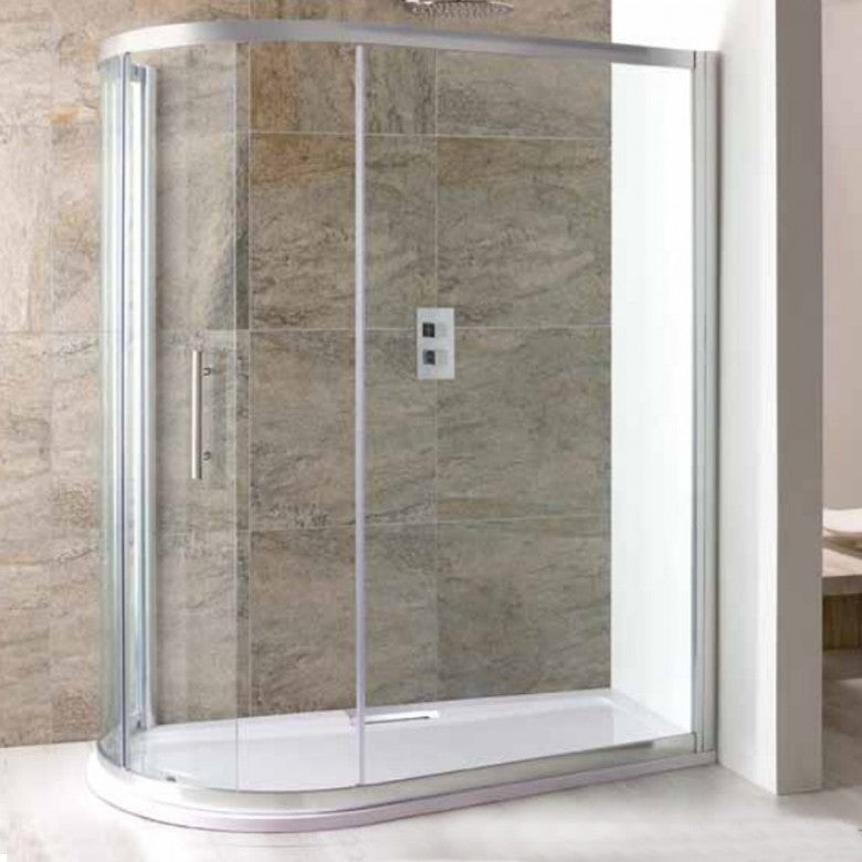 Eastbrook Volente Sliding Spacesaver Quadrant Shower Enclosure  Shower Tray