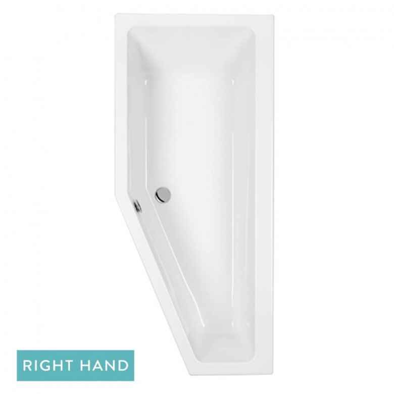 Eastbrook Quantum Space Saver Bath with Front Panel - 1700 x 742mm