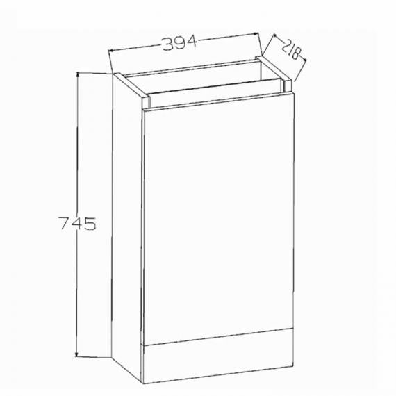 Pura Echo Floor Standing Vanity Unit & Basin - White Gloss