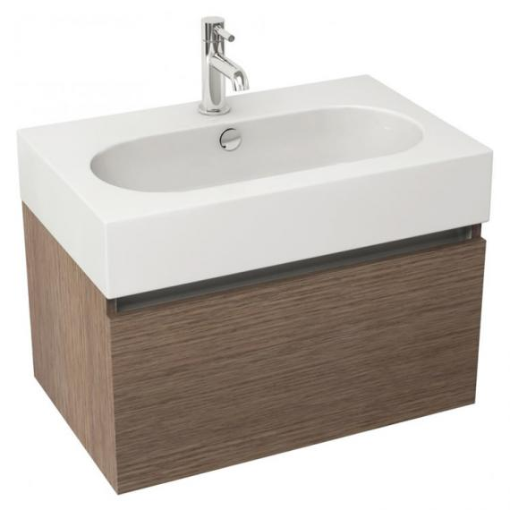 Pura Echo 60 x 38cm Wall Mounted Unit and Basin - Soft Oak