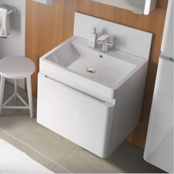 Pura Flite 600mm White Single Drawer Unit & Basin