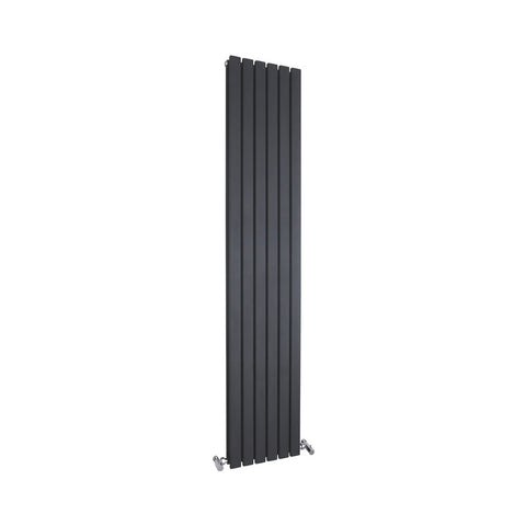 Hudson Reed Sloane Double Panel Designer Radiator 1800 x 354mm - Black - HLW