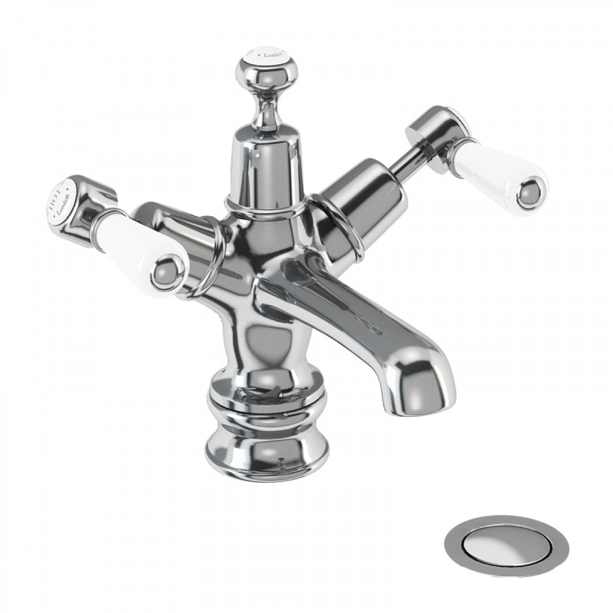 BURLINGTON KENSINGTON BASIN MIXER TAP WITH HIGH CENTRAL INDICE AND WASTE