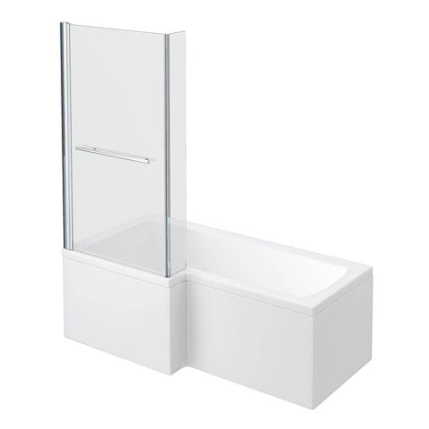 Milan Shower Bath - 1700mm L Shaped Inc. Screen with Rail + Panel (RH) & (LH)