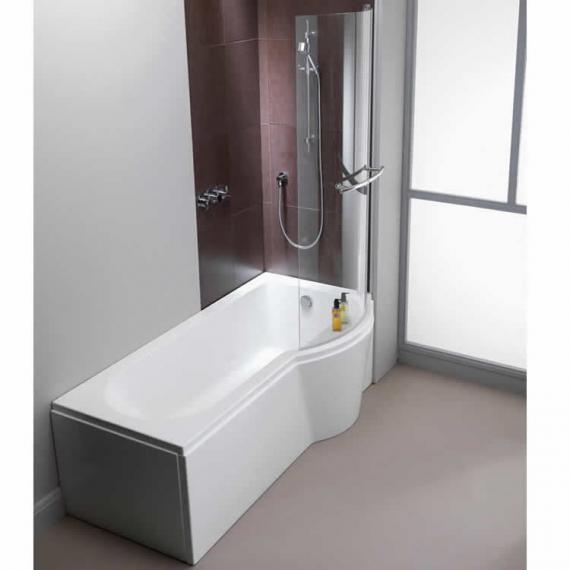 Pura Arco 1500mm Right Hand Shower Bath