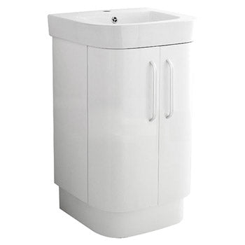 Carlisle Floor Standing Vanity Unit in White Product Code: CARFW500