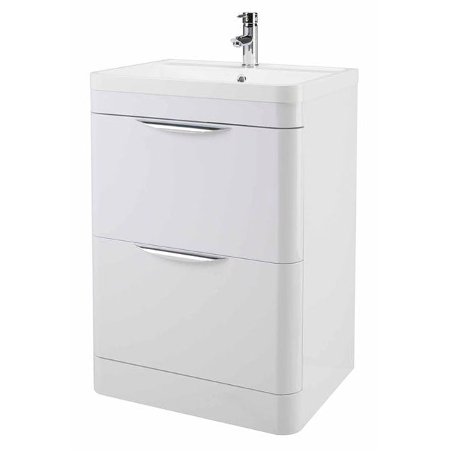 Premier Parade Floor Standing 800mm Vanity Unit and Basin 800 x 596 x 445mm