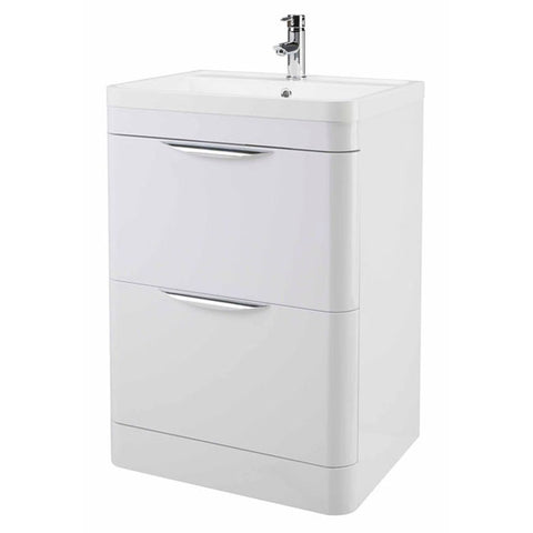 Premier Parade Floor Standing 600mm Vanity Unit and Basin 800 x 596 x 445mm