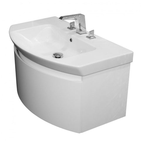 Saneux Poppy 800mm Wall Mounted Vanity Unit  Basin