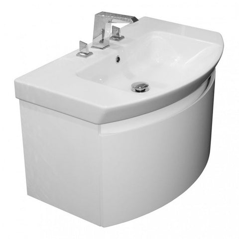 Saneux Poppy 650mm Wall Mounted Vanity Unit  Basin