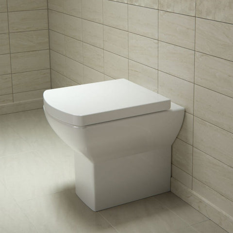 Saneux I-Line Short Projection Rimless Toilet  Soft Close Seat - 480mm Projection