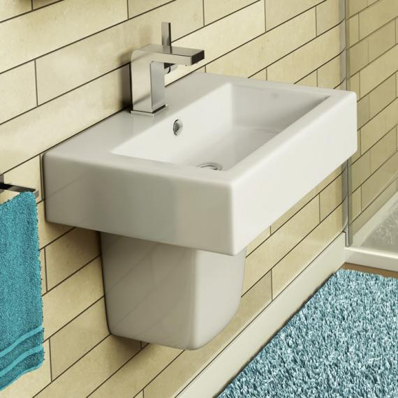 Pura STR8 500mm Basin & Semi Pedestal