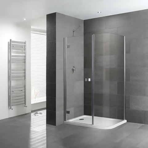 Eastbrook Volente Curved Corner Shower Enclosure  Shower Tray