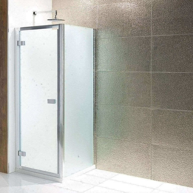 Eastbrook Volente Frosted Hinged Shower Door with Optional Side Panel