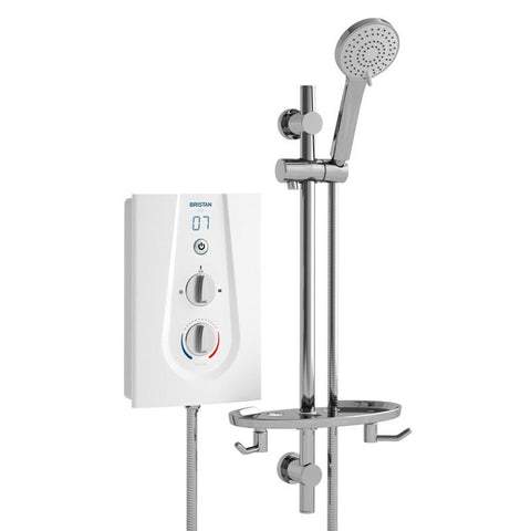 Bristan Joy Thermostatic 9.5kW Electric Shower White JOYT395 W