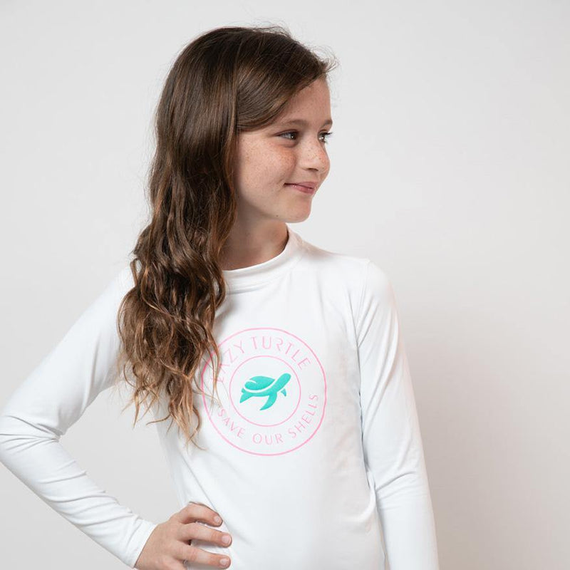 Girls wearing Paddle Sun Safe Long Sleeve