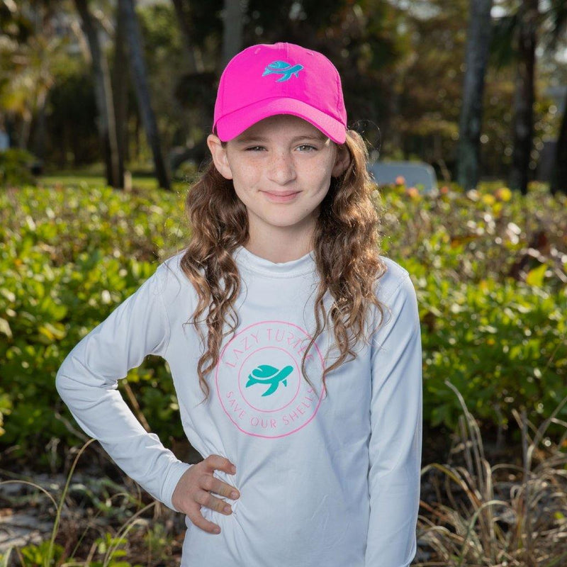 Girl wearing Paddle Sun Safe Long Sleeve