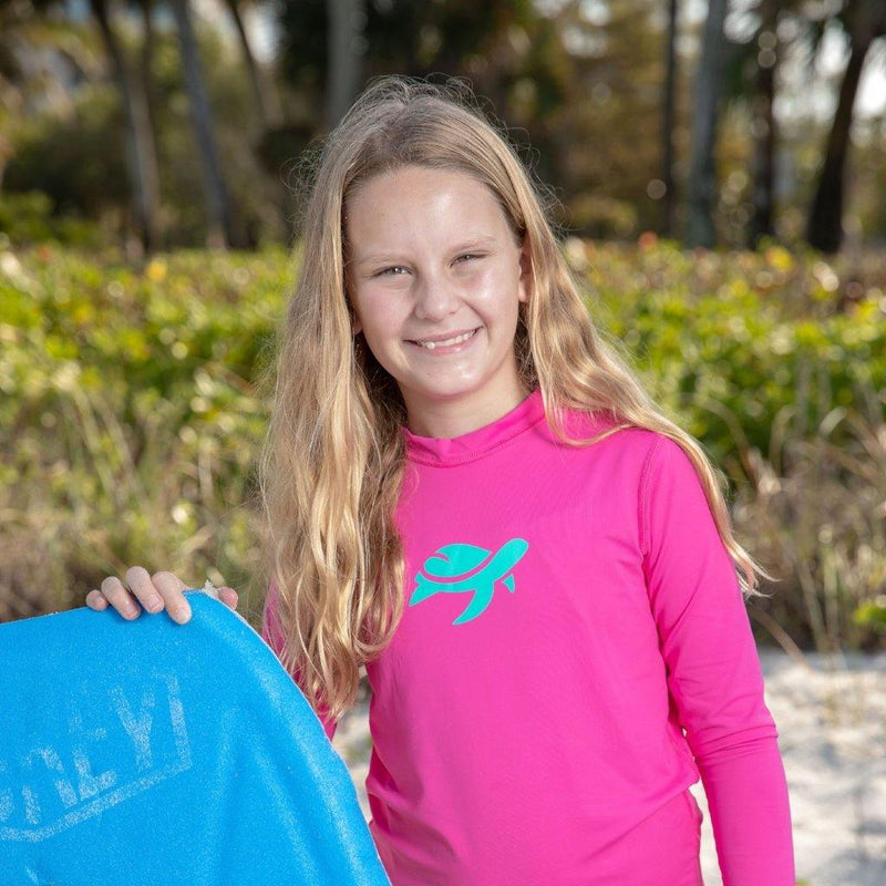 Girl wearing Sand Castle Sun Safe Long Sleeve