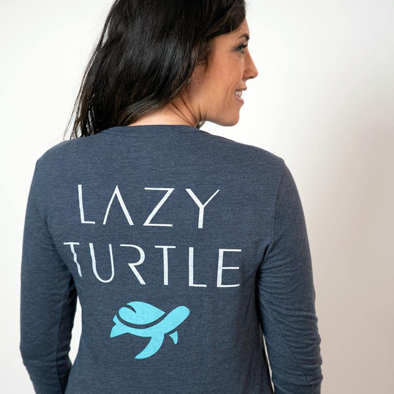 Back view of woman wearing Turtle Long Sleeve – Unisex