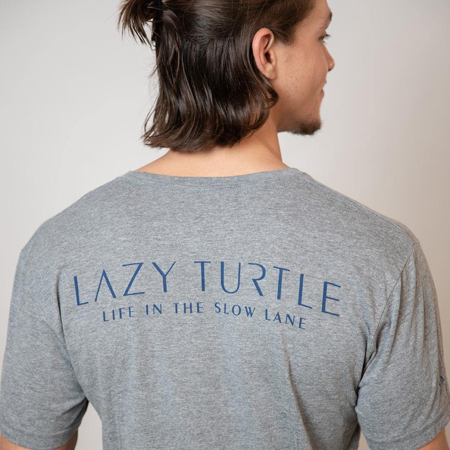 Back view of man wearing Slow Lane Tee