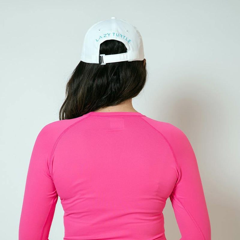 Back view of woman wearing Palm Sun Safe Long Sleeve