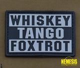 Pvc Patch Whiskey - Tango Foxtrot Patch