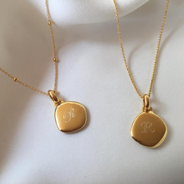 Lena 18ct Gold Vermeil Pebble Pendant