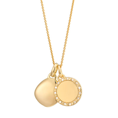 Una 18ct Gold Vermeil Diamond and Lena Necklace Set