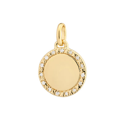 Una 18ct Gold Vermeil Diamond Halo Pendant