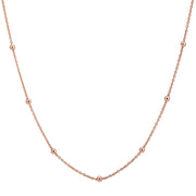 "18ct Rose Gold Vermeil 19-22"" Beaded Chain"