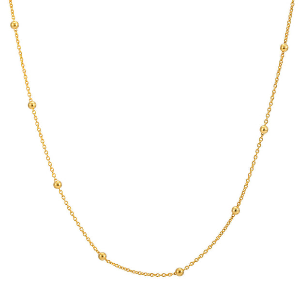 "18ct Gold Vermeil 19-22"" Beaded Chain"