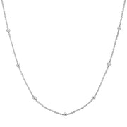 "Sterling Silver 19-22"" Beaded Chain"