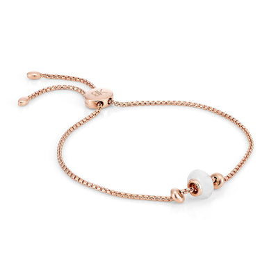 Libbie 18ct Rose Gold Vermeil Gemstone Charm Bracelet - Rainbow Moonstone