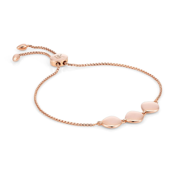 Lena 18ct Rose Gold Vermeil Pebble Bracelet