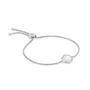 Rosina Sterling Silver Hexagon Gemstone Bracelet - Moonstone